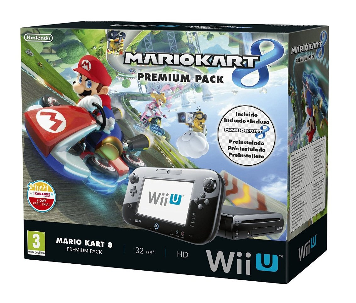 Nintendo Wii U - Consola Premium Pack Mario Kart 8