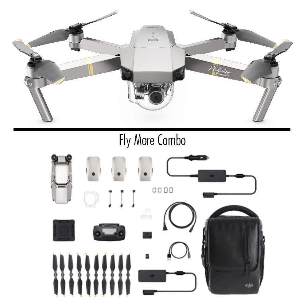 DJI Mavic Pro Platinum Fly More Combo amazon