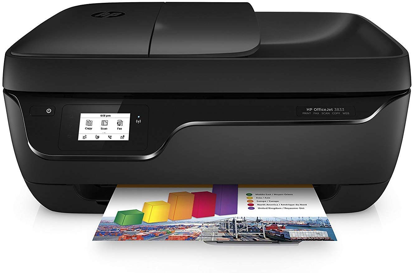 HP OfficeJet 3833 - Impresora Multifunción de Tinta amazon