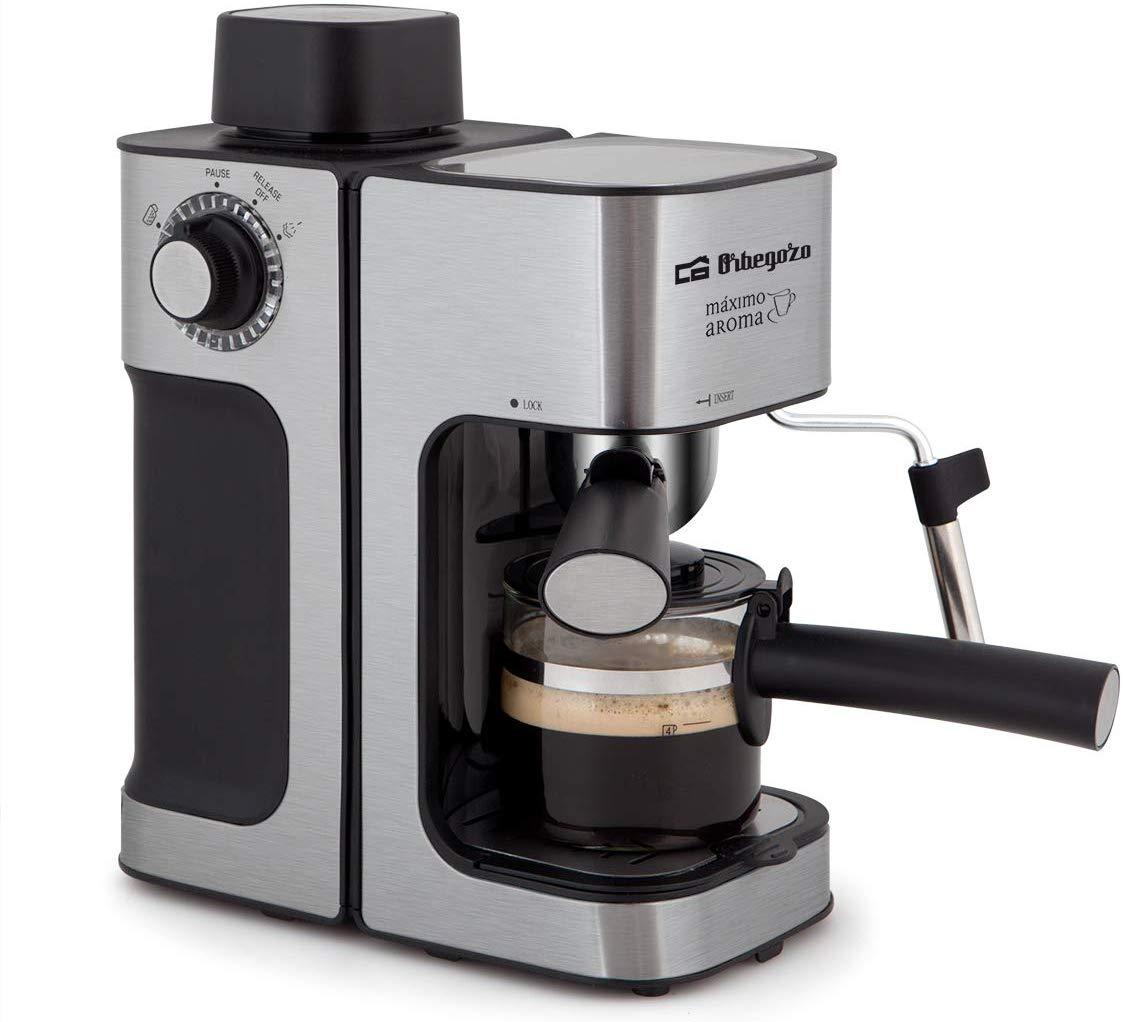 Orbegozo EXP 5000 - Cafetera presión, capacidad de 2 a 4 tazas